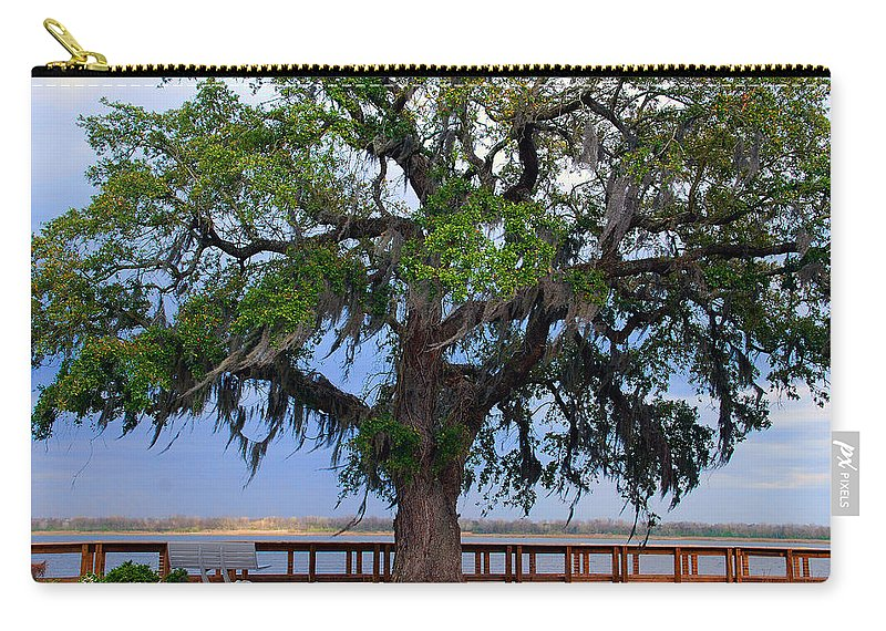 Photography Carry-all Pouch featuring the photograph Down By The River Side by Susanne Van Hulst