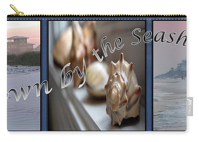 Shells Carry-all Pouch featuring the digital art Down By The Seashore by Robert Meanor