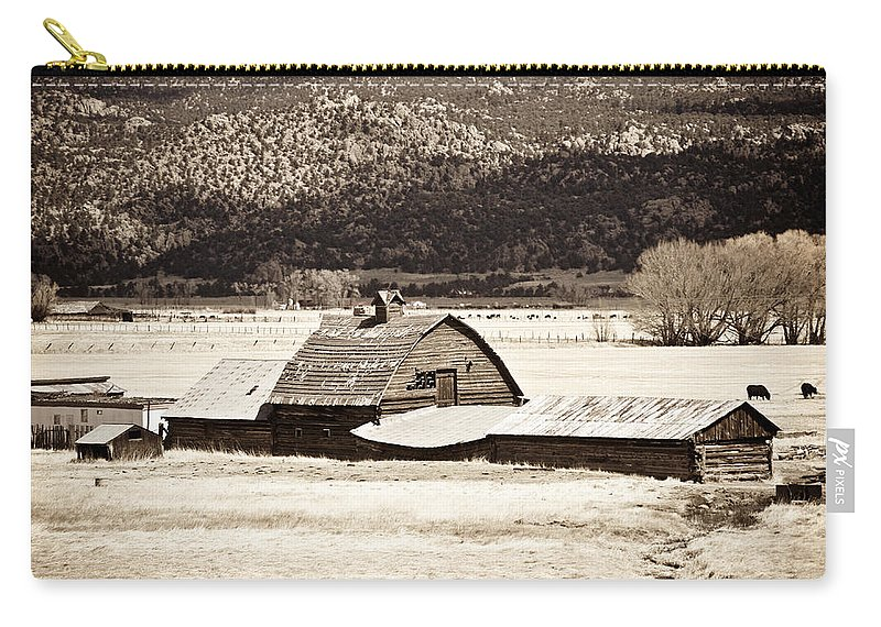 Americana Carry-all Pouch featuring the photograph Down On The Farm by Marilyn Hunt