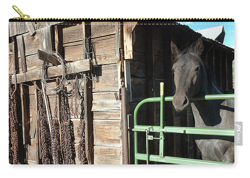 Horse Carry-all Pouch featuring the photograph Down On The Ranch by Jerry McElroy