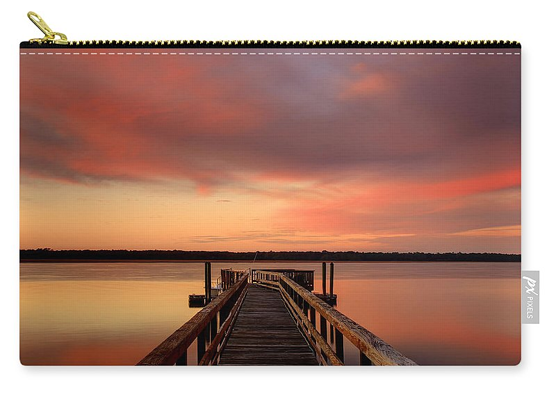 Canvas Carry-all Pouch featuring the photograph Down The Dock by Phill Doherty