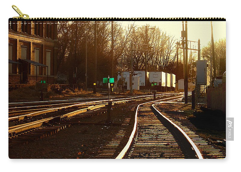 Landscape Carry-all Pouch featuring the photograph Down The Right Track 2 by Steve Karol