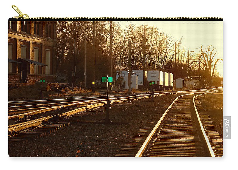 Landscape Carry-all Pouch featuring the photograph Down the Right Track by Steve Karol