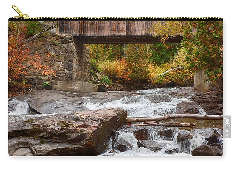 #jefffolger Carry-all Pouch featuring the photograph Down The Road To Greenbanks's Hollow Covered Bridge by Jeff Folger