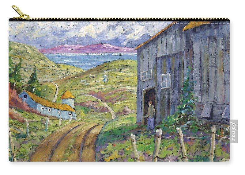 Art Carry-all Pouch featuring the painting Down To The Fjord by Richard T Pranke
