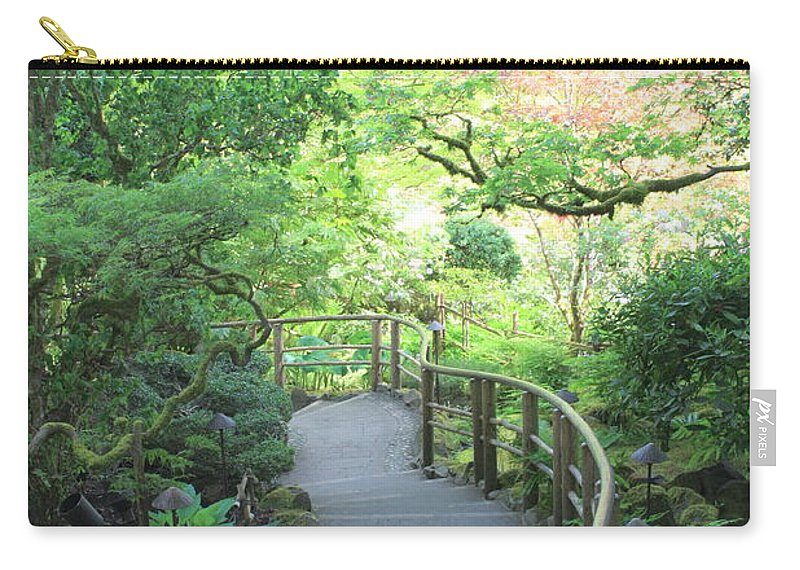 Garden Carry-all Pouch featuring the photograph Down To The Garden by Carol Groenen