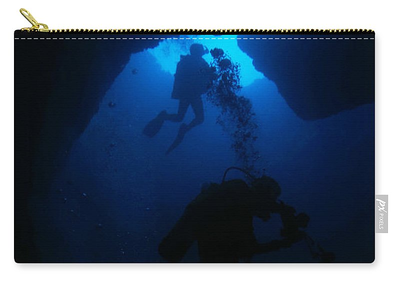 Seascape Carry-all Pouch featuring the photograph Down We Go by Mumbles and Grumbles