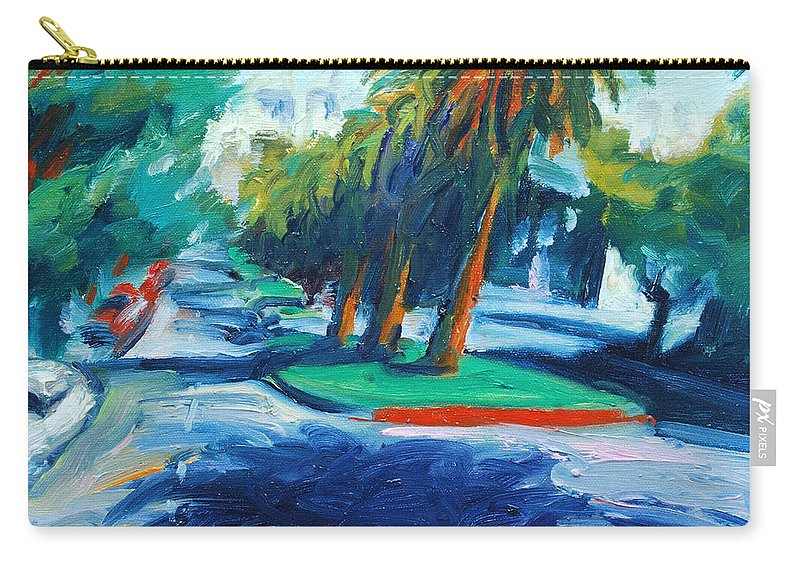 San Francisco Carry-all Pouch featuring the painting Downhill by Rick Nederlof