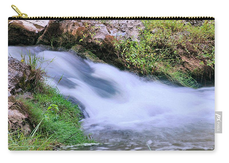Waterfall Carry-all Pouch featuring the photograph Downstream by Kristin Elmquist