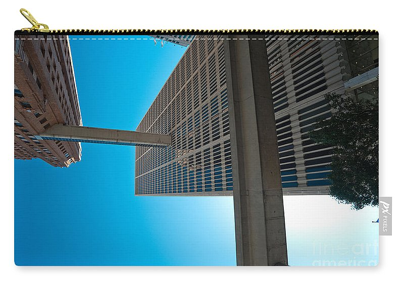 Detroit Carry-all Pouch featuring the photograph Downtown Detroit Up by Steven Dunn