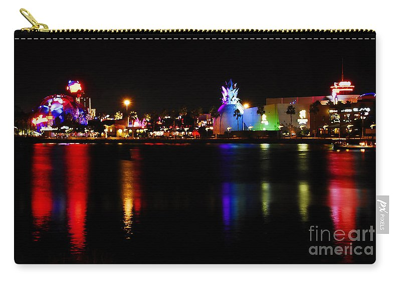 Downtown Disney Carry-all Pouch featuring the photograph Downtown Disney by David Lee Thompson