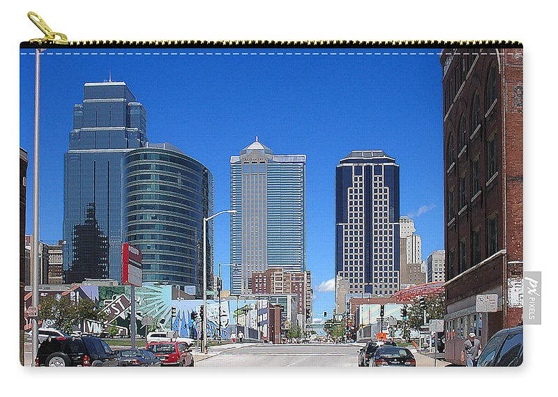 City Carry-all Pouch featuring the photograph Downtown Kansas City by Steve Karol
