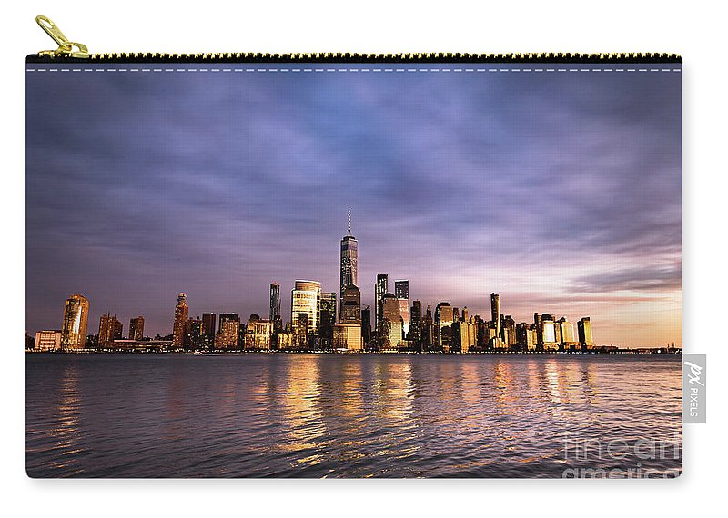 World Trade Center Carry-all Pouch featuring the photograph Downtown Nyc by Zawhaus Photography