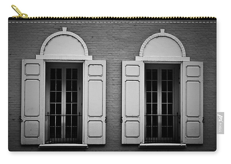 Windows Carry-all Pouch featuring the photograph Downtown Windows Roanoke Virginia by Teresa Mucha