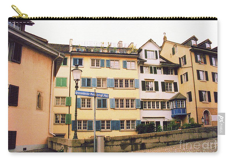 Downtown Carry-all Pouch featuring the photograph Downtown Zurich Switzerland by Susanne Van Hulst