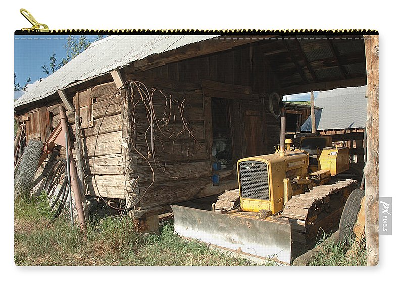Bulldozer Carry-all Pouch featuring the photograph Dozin Off by Jerry McElroy