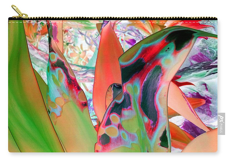 Plant Print Carry-all Pouch featuring the digital art Abstracted Leaf Patterns #1 Ref. Dp67 by Rheta-Mari Kotze