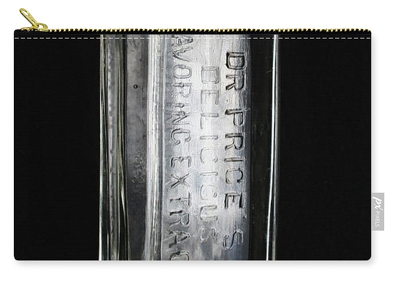 Glass Bottle Carry-all Pouch featuring the photograph Dr Price's Delicious Flavoring Extracts by Ric Bascobert