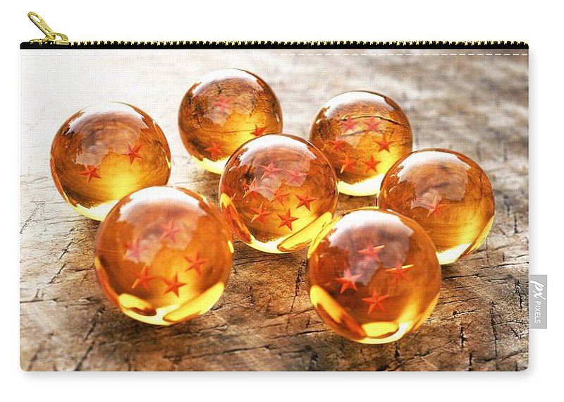 Nice Dragon Balls 3d Carry-all Pouch featuring the digital art Dragon Balls by Duyet Ha Lich