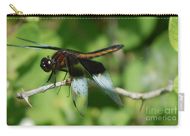 Digitall Photo Carry-all Pouch featuring the photograph Dragon Fly by David Lane