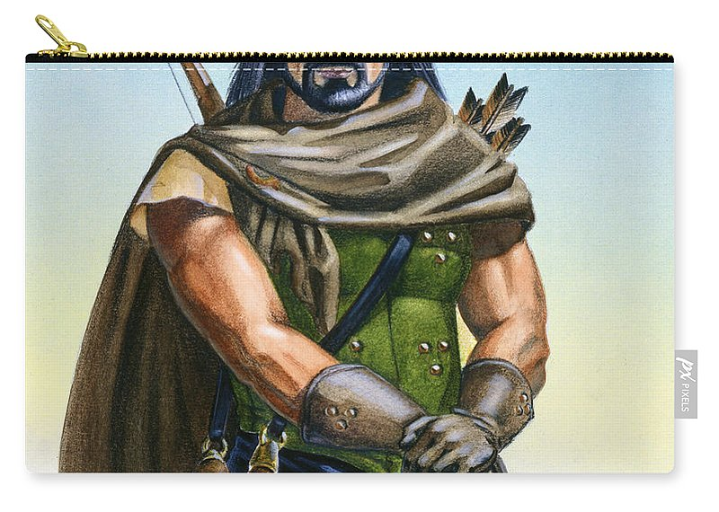 Ranger Carry-all Pouch featuring the painting Dragon Tracker by Melissa A Benson