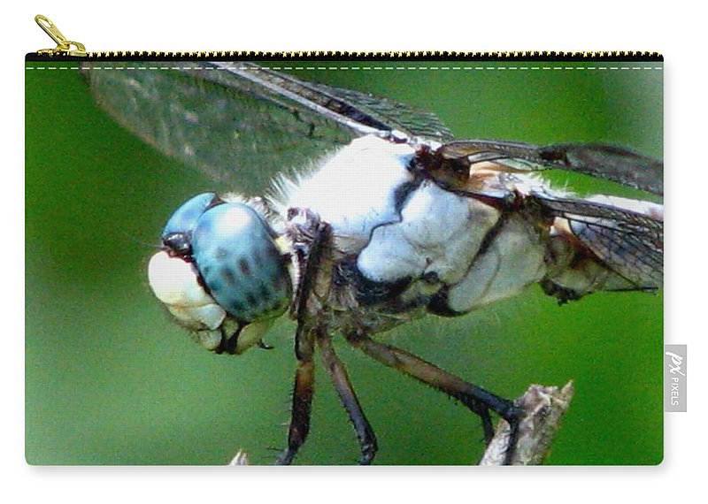 Dragonfly Carry-all Pouch featuring the photograph Dragonfly 16 by J M Farris Photography