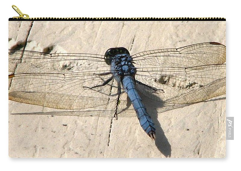 Dragonfly Carry-all Pouch featuring the photograph Dragonfly 5 by J M Farris Photography