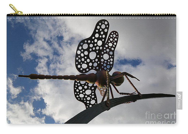 Dragonfly Carry-all Pouch featuring the photograph Dragonfly by Sandy Henderson