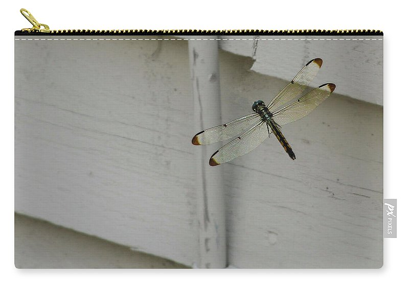Dragonfly Carry-all Pouch featuring the photograph Dragonfly by Scott Kwiecinski