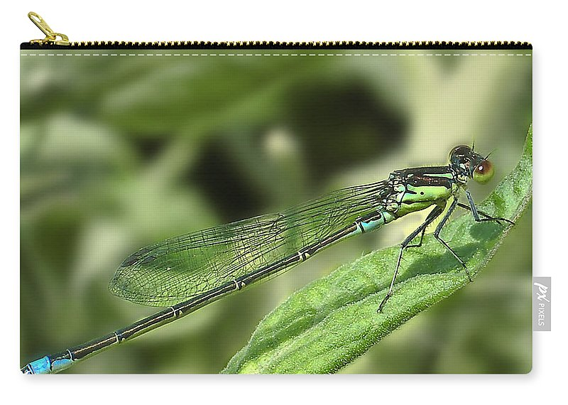 Dragon Carry-all Pouch featuring the photograph Dragonfly1 by Svetlana Sewell
