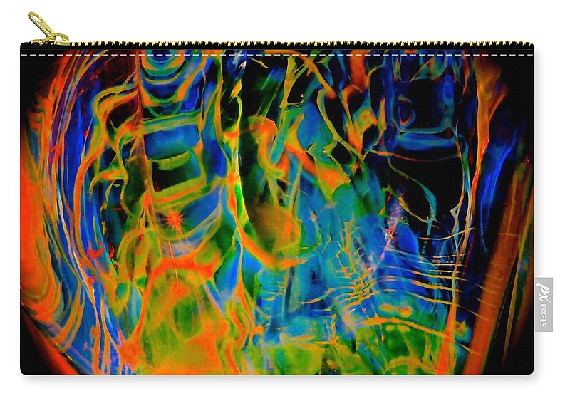 Abstract Carry-all Pouch featuring the photograph Dragons And Wizards by Tim G Ross