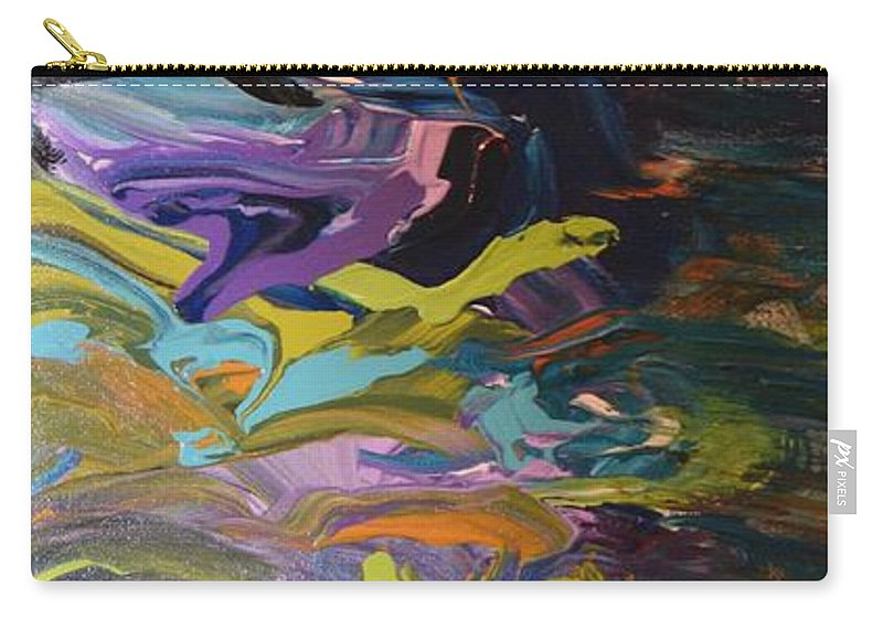 Art Nouveau Carry-all Pouch featuring the painting Dragon's Den by Maria Isabel Storniolo