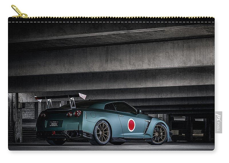Gtr Carry-all Pouch featuring the digital art Dragon's Lair by Douglas Pittman