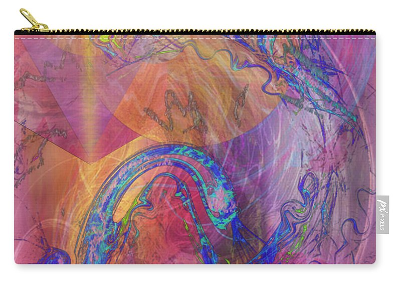 Dragon's Tale Carry-all Pouch featuring the digital art Dragon's Tale by John Beck
