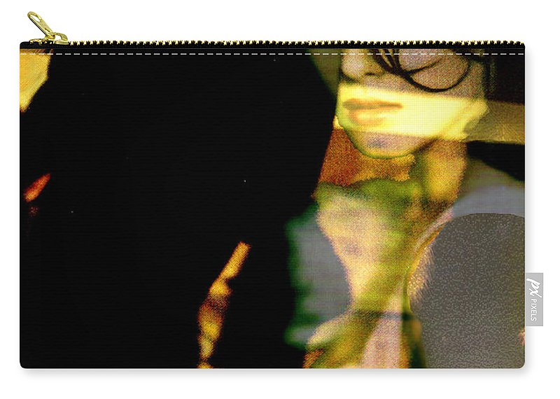 Mystery Carry-all Pouch featuring the digital art Drama After Dark by Seth Weaver