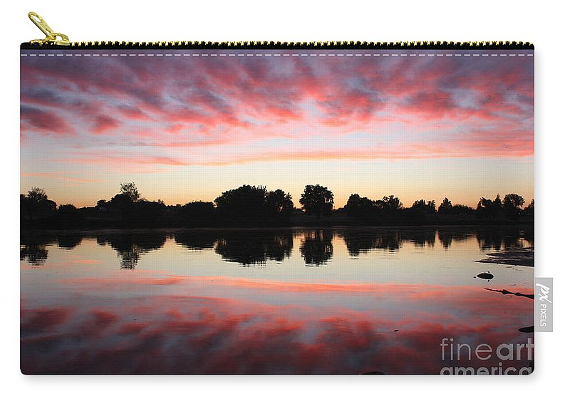 Sunset Carry-all Pouch featuring the photograph Drama In Red by Carol Groenen