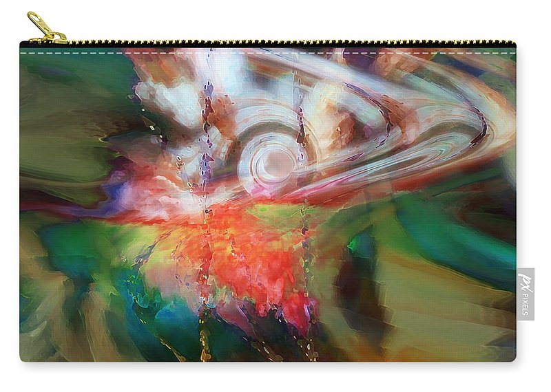 Abstract Art Carry-all Pouch featuring the digital art Drama by Linda Sannuti