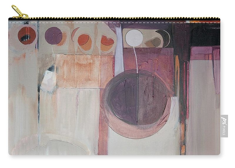Abstract Carry-all Pouch featuring the painting Drama by Marlene Burns