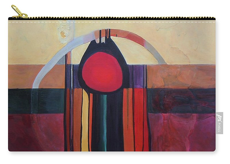 Abstract Carry-all Pouch featuring the painting Drama Resolved by Marlene Burns