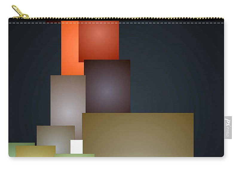 Rafael Salazar Carry-all Pouch featuring the digital art Dramatic Abstract by Rafael Salazar