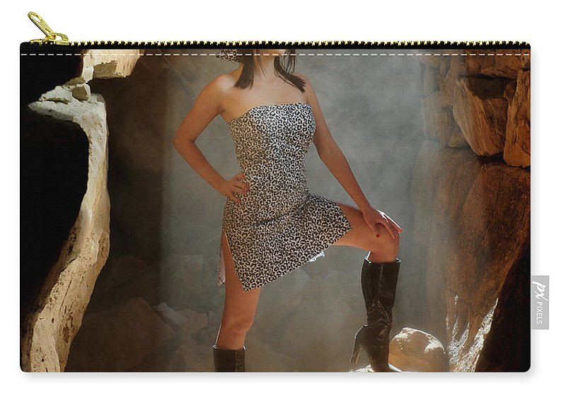 Dust Carry-all Pouch featuring the photograph Dramatic Fashion Pose by Scott Sawyer