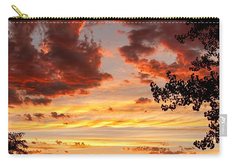 Gold Carry-all Pouch featuring the photograph Dramatic Sunset Reflection by James BO Insogna