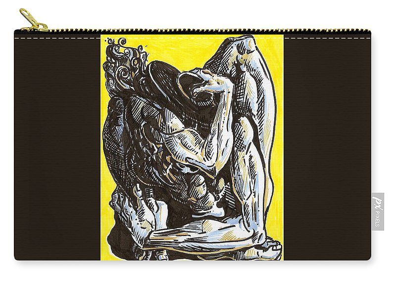 Surrealism Carry-all Pouch featuring the drawing Drawing 1 by Darwin Leon