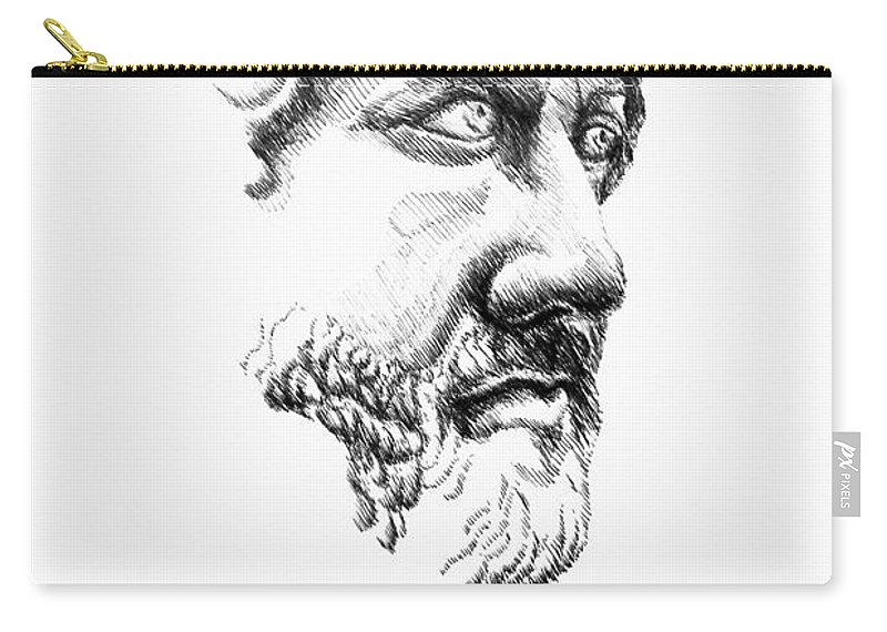 Drawing Figurative Carry-all Pouch featuring the drawing Drawing by Alessandro Nesci
