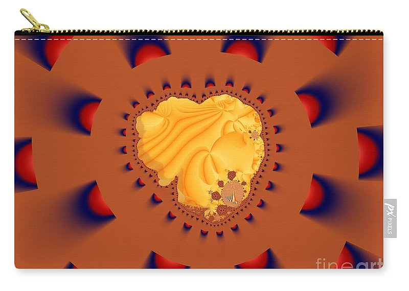 Fractal Art Carry-all Pouch featuring the digital art Drawn To The Light by Ron Bissett