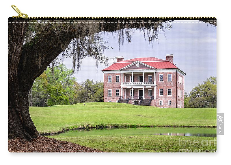 Drayton Hall Carry-all Pouch featuring the photograph Drayton Hall Mount Pleasant South Carolina by Dawna Moore Photography