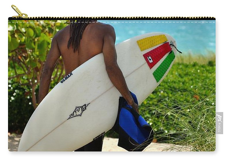 Haulouver Beach Carry-all Pouch featuring the photograph Dreadlocks Surfer Dude by Rene Triay Photography