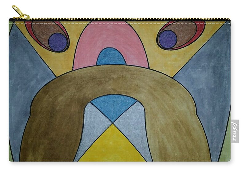 Geometric Art Carry-all Pouch featuring the glass art Dream 188 by S S-ray