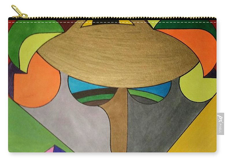Geo - Organic Art Carry-all Pouch featuring the painting Dream 331 by S S-ray