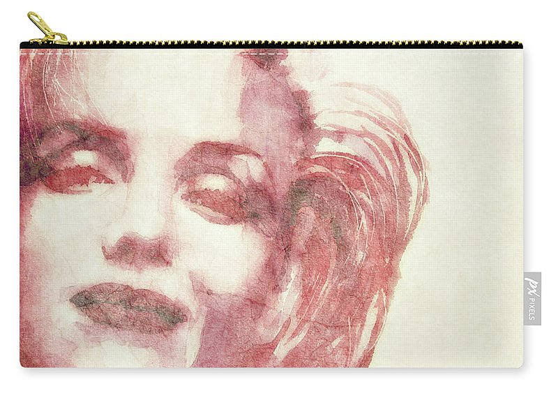 Marilyn Monroe Carry-all Pouch featuring the painting Dream A Little Dream Of Me by Paul Lovering